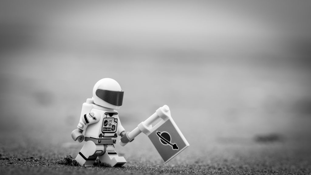 The Spaceman (monochrome version)